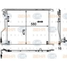 Kondensator, Klimaanlage mit OEM-Nummer 220 500 02 54