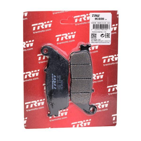 Freno a disco TRW MCB598 Kit pastiglie freno