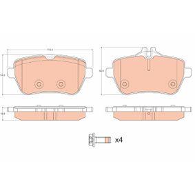 Bremsbelagsatz, Scheibenbremse Höhe 1: 54,6mm, Höhe 2: 64,9mm, Dicke/Stärke: 18,8mm mit OEM-Nummer 008 420 34 20