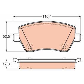 Bremsbelagsatz, Scheibenbremse Höhe: 52,5mm, Dicke/Stärke: 17,3mm mit OEM-Nummer 4106000Q0K