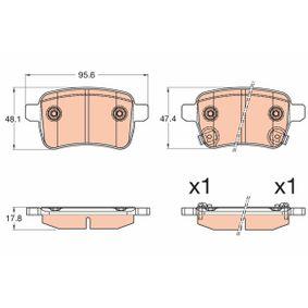 Bremsbelagsatz, Scheibenbremse Höhe 1: 48,1mm, Höhe 2: 47,4mm, Dicke/Stärke: 17,9mm mit OEM-Nummer 77 366 595
