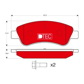 Brake Pad Set, disc brake Height: 51,0mm, Thickness: 18,8mm with OEM Number E172124