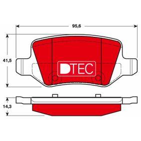 Bremsbelagsatz, Scheibenbremse Höhe: 41,5mm, Dicke/Stärke: 14,3mm mit OEM-Nummer A 169 420 11 20