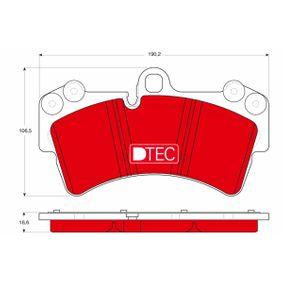 Set placute frana, frana disc GDB1548DTE Touareg (7LA, 7L6, 7L7) 5.0 V10 TDI a.f. 2010