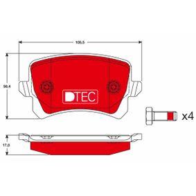 Bremsbelagsatz, Scheibenbremse Höhe: 56,4mm, Dicke/Stärke: 17,0mm mit OEM-Nummer 3C0-698-451-F