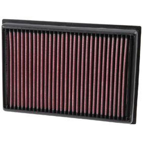 K&N Filters  33-5007 Luftfilter Länge: 229mm, Breite: 160mm, Höhe: 30mm