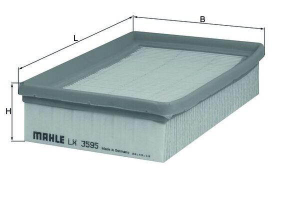 Luftfilter LX 3595 MAHLE ORIGINAL 72339852 in Original Qualität