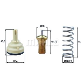 Thermostat, coolant TI 220 87D POLO (9N_) 1.4 MY 2009
