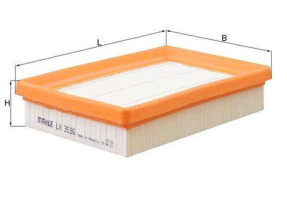 Luftfilter MAHLE ORIGINAL LX 3536 Bewertung