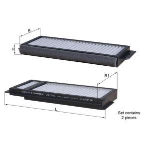 MAHLE ORIGINAL  LAK 346/S Filter, Innenraumluft Breite: 98,5mm, Breite 1: 100,0mm, Höhe: 22,0mm