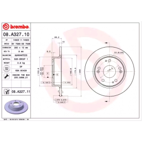 2008 Honda Accord CL7 3.0 Brake Disc 08.A327.11