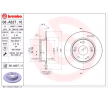 Brake discs and rotors BREMBO 7624391 Solid, Coated