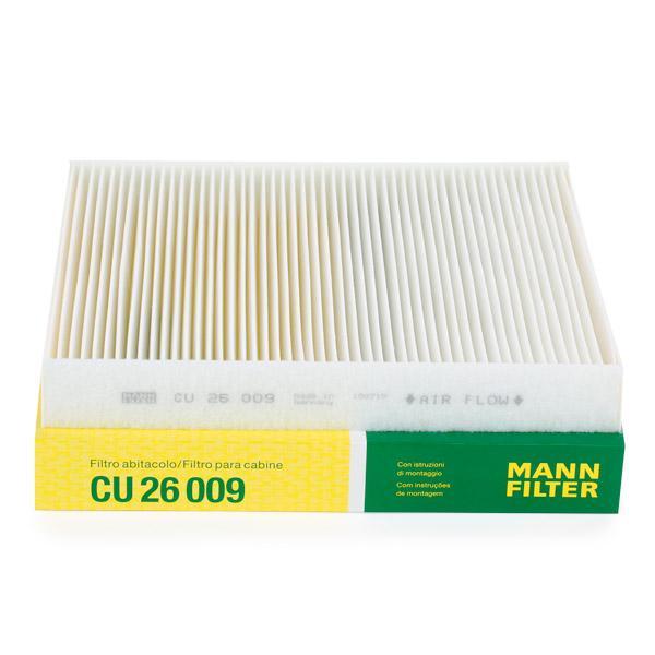 Innenraumfilter CU 26 009 MANN-FILTER CU 26 009 in Original Qualität