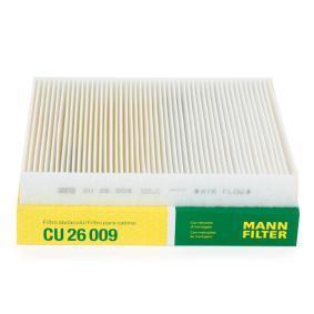 Filter, Innenraumluft Länge: 254mm, Breite: 235mm, Höhe: 32mm mit OEM-Nummer 5Q0819644A