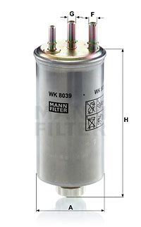 Article № WK 8039 MANN-FILTER prices