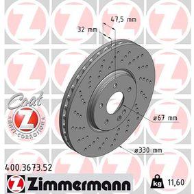 Bremsscheibe Bremsscheibendicke: 32mm, Felge: 5-loch, Ø: 330mm mit OEM-Nummer 210 421 2312