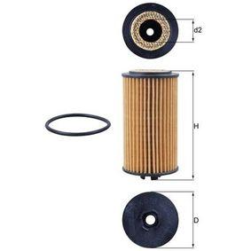 Ölfilter Ø: 57,1mm, Innendurchmesser 2: 21,0mm, Höhe: 105,4mm, Höhe 1: 95,0mm mit OEM-Nummer 6 50 173