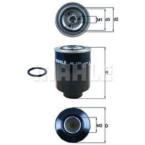 Fuel filter Height: 131mm, Housing Diameter: 90mm with OEM Number XM349150AA
