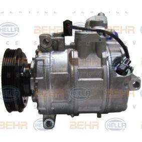 Compresor, aire acondicionado Polea Ø: 110mm con OEM número 8E0.260.805 AB
