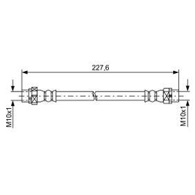 Latiguillos de Freno BMW X5 (E70) 3.0 d de Año 02.2007 235 CV: Tubo flexible de frenos (1 987 481 582) para de BOSCH