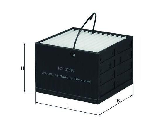 MAHLE ORIGINAL  KX 395 Fuel filter Height: 54mm