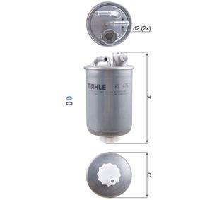 Kraftstofffilter Höhe: 168,0mm mit OEM-Nummer XM21-9A011-AA