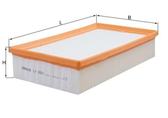 Filter MAHLE ORIGINAL LX3502 4009026930168