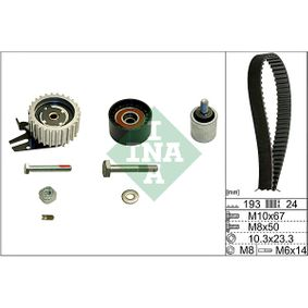 Timing Belt Set Width: 24,50mm with OEM Number 636317