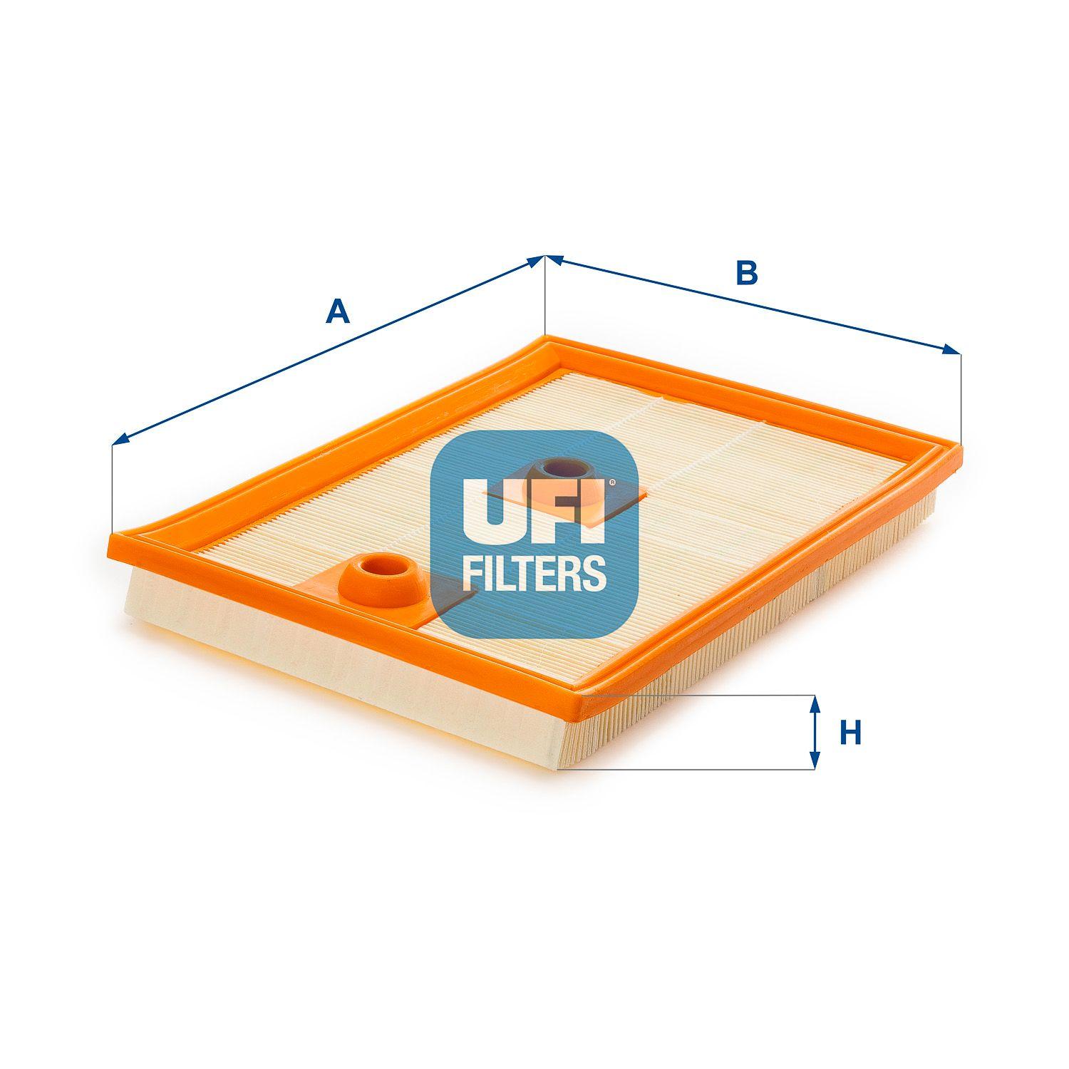UFI  30.549.00 Air Filter Length: 270mm, Width: 190mm, Height: 24mm, Length: 270mm