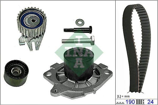 INA  530 0622 30 Water pump and timing belt kit