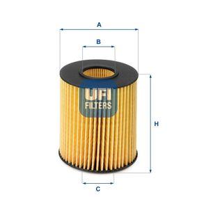 Oil Filter Ø: 65mm, Inner Diameter 2: 19mm, Inner Diameter 2: 19mm, Height: 104mm with OEM Number 26320-3C-30A