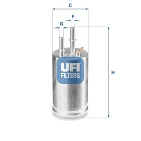 Kraftstofffilter Höhe: 139,0mm mit OEM-Nummer 31274940