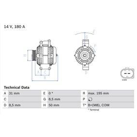 Generator mit OEM-Nummer A646-154-11-02