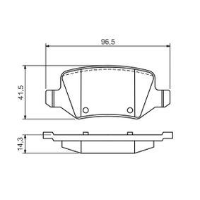 Bremsbelagsatz, Scheibenbremse Breite: 96,5mm, Höhe: 41,5mm, Dicke/Stärke: 14,3mm mit OEM-Nummer A169 420 17 20