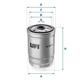 Kraftstofffilter Höhe: 143,5mm mit OEM-Nummer 52126244AB