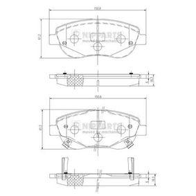 NIPPARTS  N3602135 Bremsbelagsatz, Scheibenbremse Dicke/Stärke: 18mm