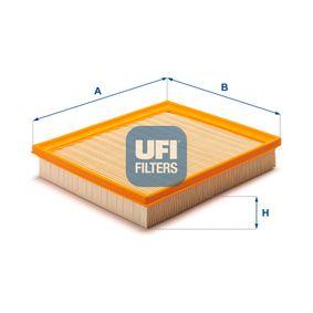 UFI  30.558.00 Luftfilter Länge: 227,0mm, Breite: 203,0mm, Höhe: 41,0mm
