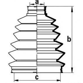gumiharang készlet, hajtótengely kerékoldali, Első tengely bal, Első tengely jobb J2864018