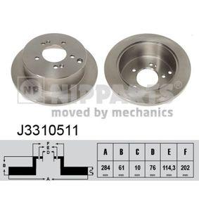 Bremsscheibe Bremsscheibendicke: 10mm, Lochanzahl: 5, Ø: 284mm mit OEM-Nummer 58411 3A300