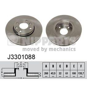Bremsscheibe Bremsscheibendicke: 22mm, Lochanzahl: 4, Ø: 260mm mit OEM-Nummer 40206 AX600