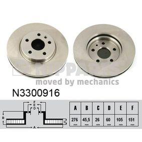 Bremsscheibe Bremsscheibendicke: 26mm, Lochanzahl: 5, Ø: 276mm mit OEM-Nummer 569073
