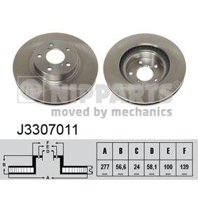 Bremsscheibe J3307011 IMPREZA Schrägheck (GR, GH, G3) 1.5 F Bj 2011