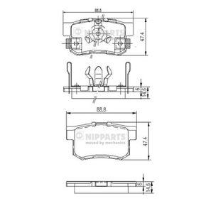 2006 Honda CR-V Mk2 2.2 CTDi (RD9) Brake Pad Set, disc brake J3614017