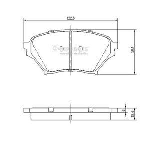 Bremsbelagsatz, Scheibenbremse Höhe: 58,4mm, Dicke/Stärke: 15,4mm mit OEM-Nummer N0Y9-33-23Z
