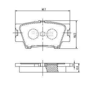Bremsbelagsatz, Scheibenbremse Breite: 96,5mm, Höhe: 49,1mm, Dicke/Stärke: 15,4mm mit OEM-Nummer 04466-YZZE8