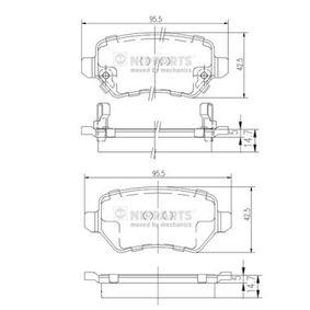 Riemenspanner für OPEL CORSA C (F08, F68) 1.2 75 PS ab Baujahr 09.2000 NIPPARTS Bremsbelagsatz, Scheibenbremse (N3610310) für