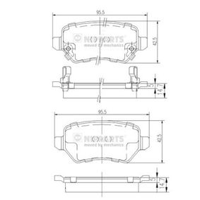 Bremsbelagsatz, Scheibenbremse N3610310 ZAFIRA B (A05) 1.7 CDTI (M75) Bj 2013