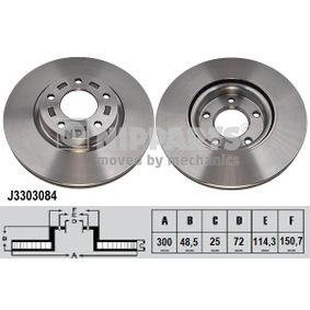 Brake Disc Brake Disc Thickness: 25mm, Num. of holes: 5, Ø: 300mm with OEM Number C26Y3325XD
