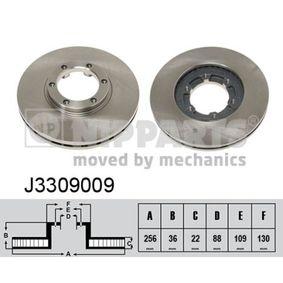 Bremsscheibe Bremsscheibendicke: 22mm, Lochanzahl: 6, Ø: 256mm mit OEM-Nummer 8-94372-435-0