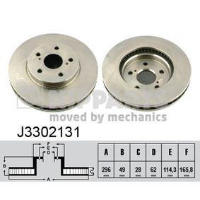 Bremsscheibe Art. Nr. J3302131 120,00€